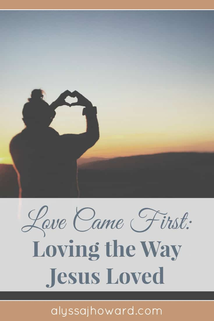Jesus demonstrated who He was first and foremost; and in response, the lost chose to follow Him. He loved unconditionally with no strings attached and demonstrated this radical love when He died for a world that was still lost in their sin. His love came first.