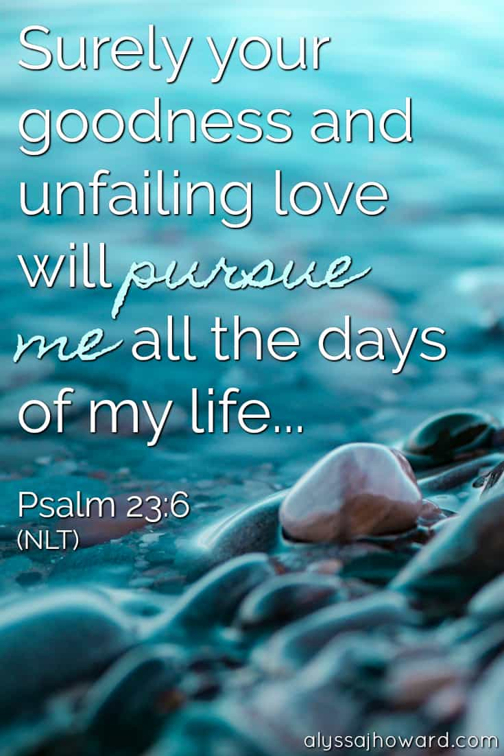 Surely your goodness and unfailing love will pursue me all the days of my life... - Psalm 23:6