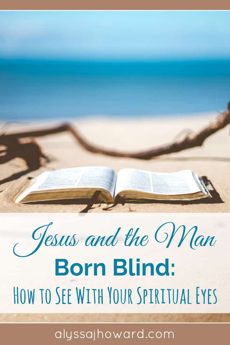 It wasn't simply his physical sight that was restored that day; Jesus gave sight to his spiritual eyes as well. He was blind, but he could now see!