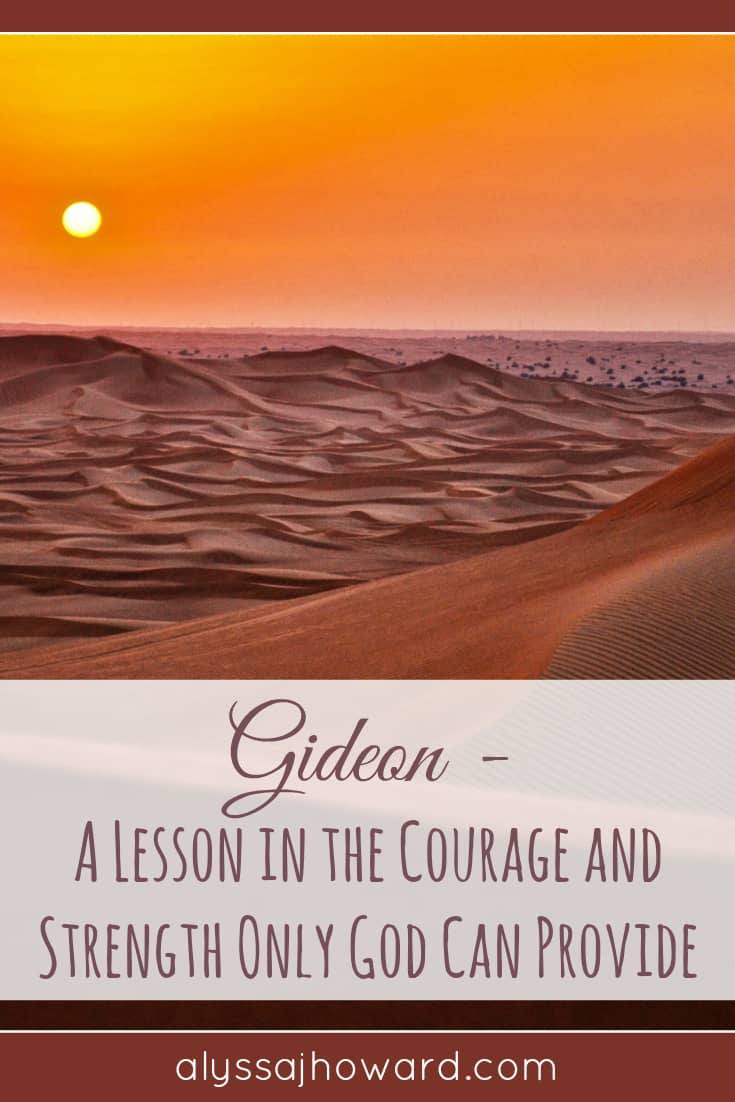 Gideon: A Lesson in the Courage and Strength Only God Can Provide | alyssajhoward.com