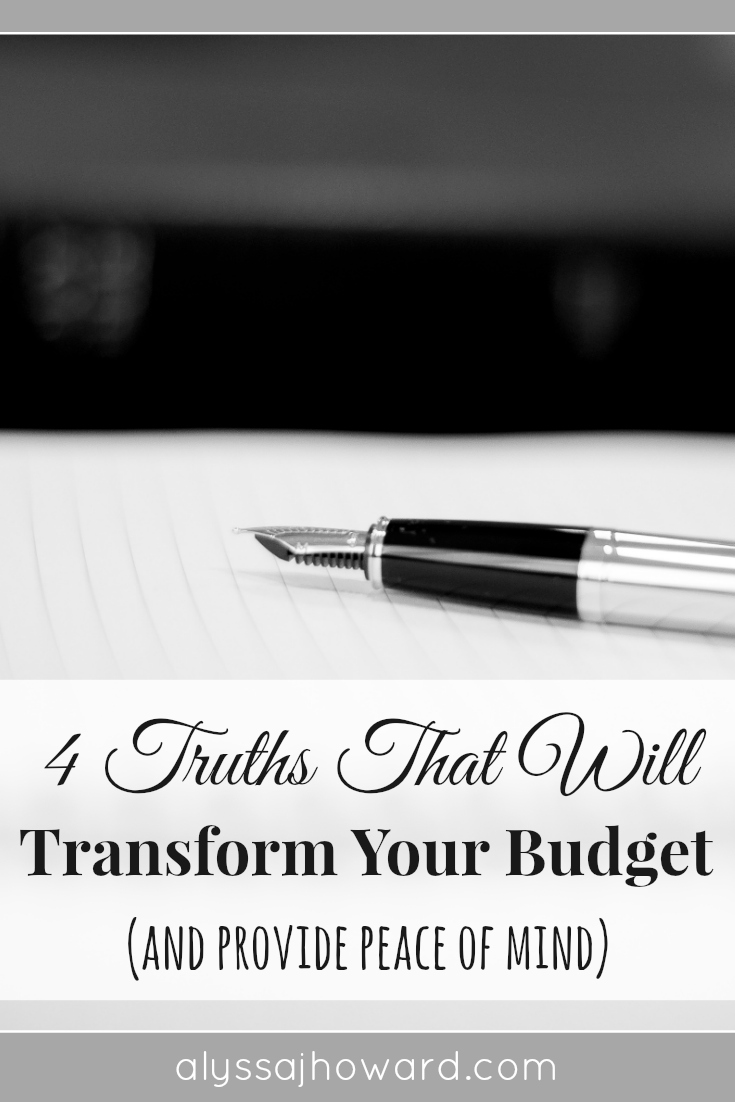 We plan and prepare, but no amount of planning will give us true peace when it comes to money. So is it possible to transform your budget and find peace?