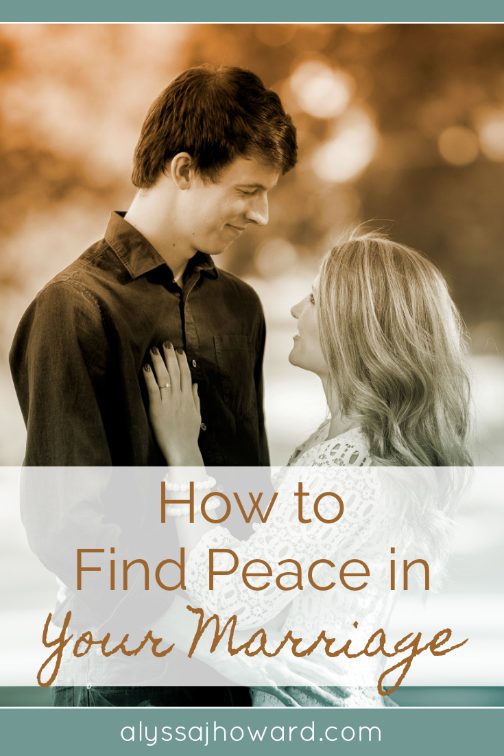 Marriage is bound to have moments of unrest. No one said it would be easy, but peace is possible. Here are four ways to discover peace in your marriage.