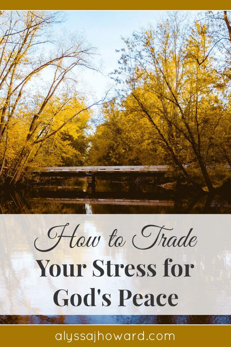 Stress can either build us up or break us down. So how do you respond when pressure comes your way? How can you trade your stress for God's peace?