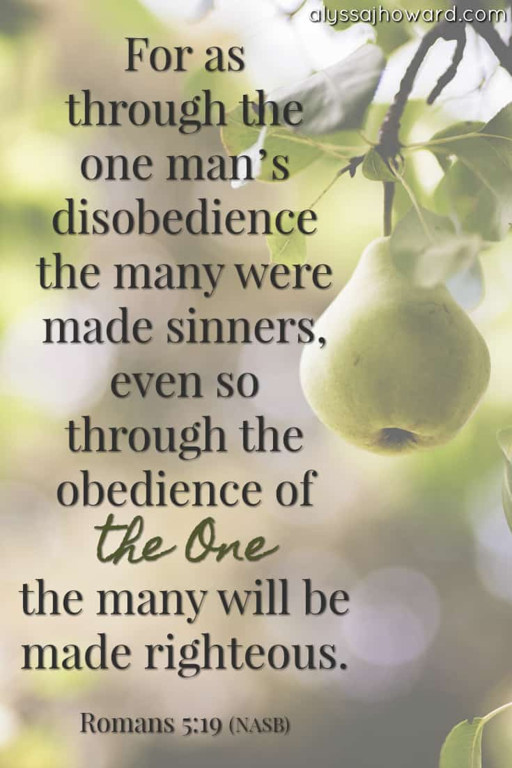 For as through the one man's disobedience the many were made sinners, even so through the obedience of the One the many will be made righteous. - Romans 5:19