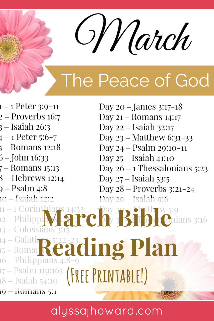 March Bible Reading Plan   alyssajhoward.com
