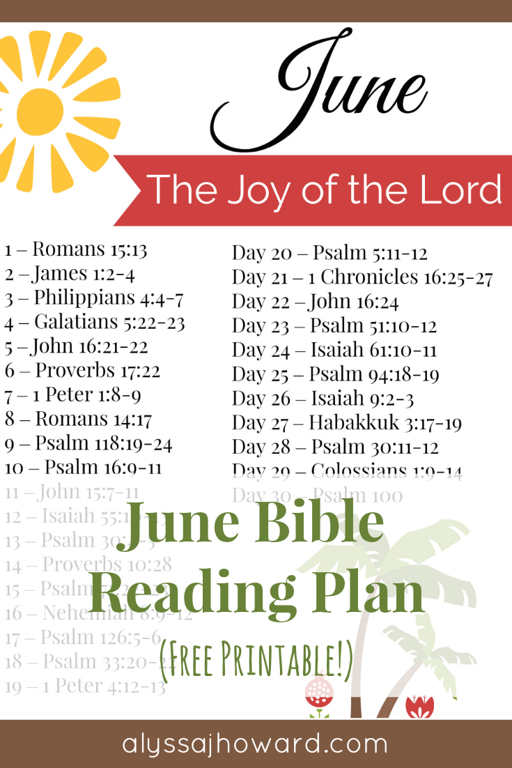 June Bible Reading Plan | alyssajhoward.com