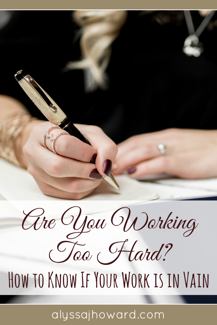 Do you ever feel like you're working too hard? Yes, hard work can be a good thing. But then there are times when you are so overworked that you are consumed by it. How do we know if what we're working towards is worth it?