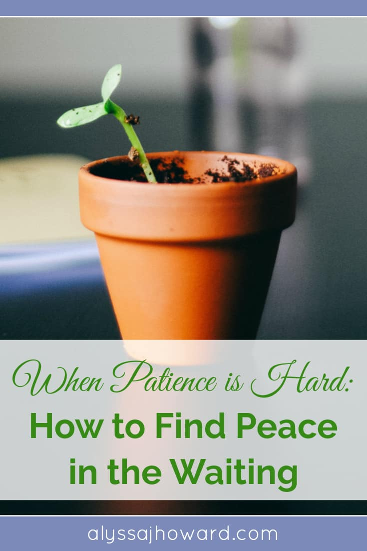 When Patience is Hard: How to Find Peace in the Waiting | alyssajhoward.com
