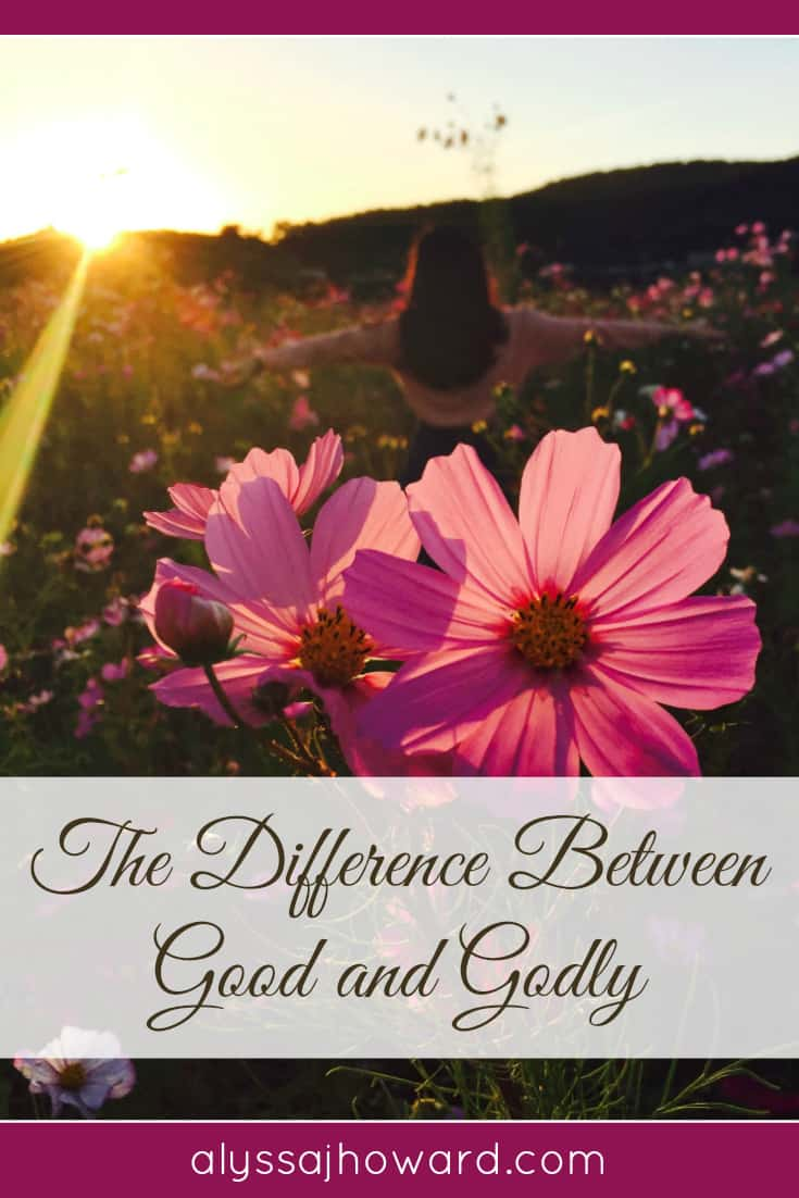 The Difference Between Good and Godly | alyssajhoward.com